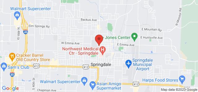 Springdale Flower Shop Map