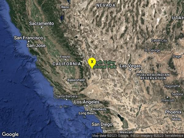 earthquake 15km SE of Olancha, CA