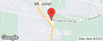 Mapa de 1275 N Mount Juliet Rd en Mount Juliet