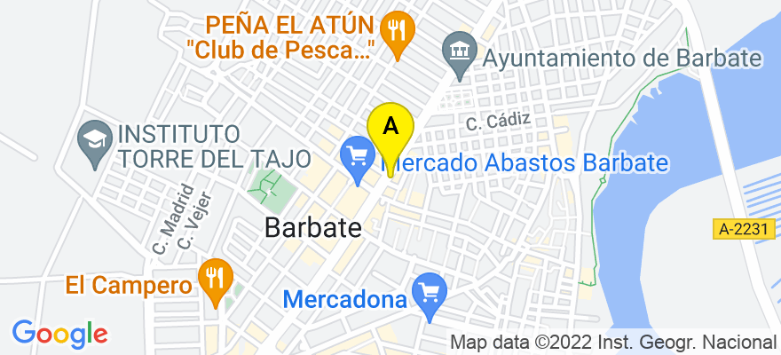 situacion en el mapa de . Direccion: AVENIDA DEL MAR, 47, 11160 Barbate. Cádiz