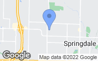 Map of Springdale, AR