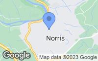 Map of Norris, TN