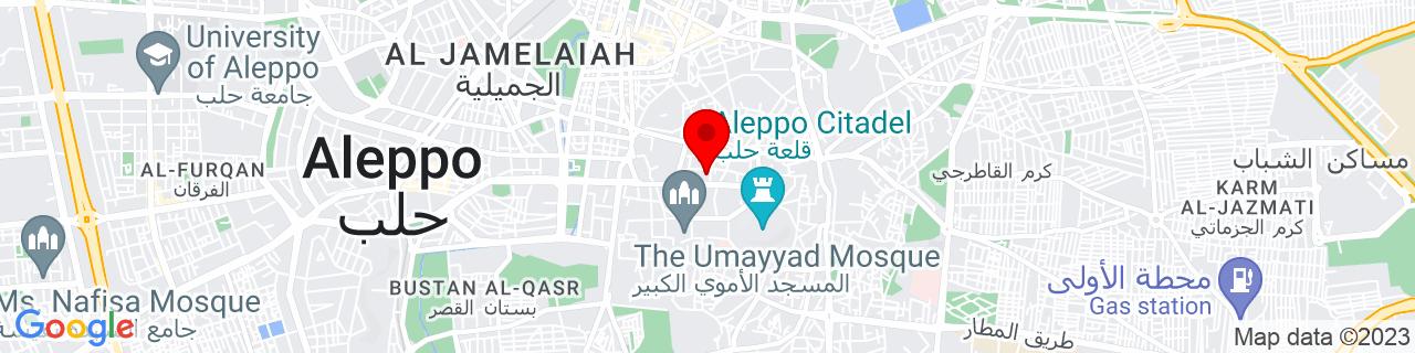 Google Map of 36.20277777777778, 37.15861111111111