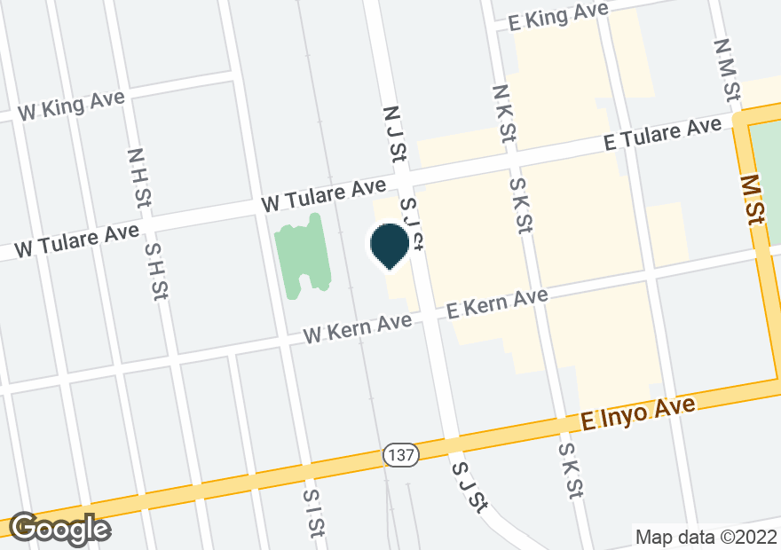 Google Map of49 W TULARE AVE