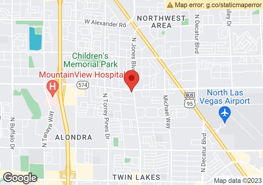 Google Map of 6001 W CHEYENNE AVE