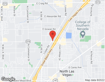 Map of 3230 Losee Rd in North Las Vegas