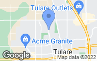 Map of Tulare, CA