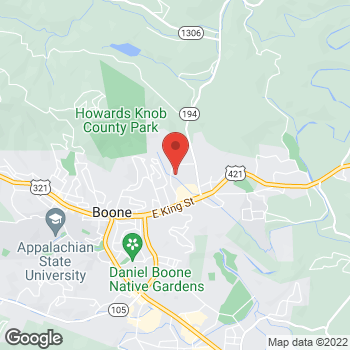 Map of State Employees' Credit Union at 410 New Market Blvd, Boone, NC 28607