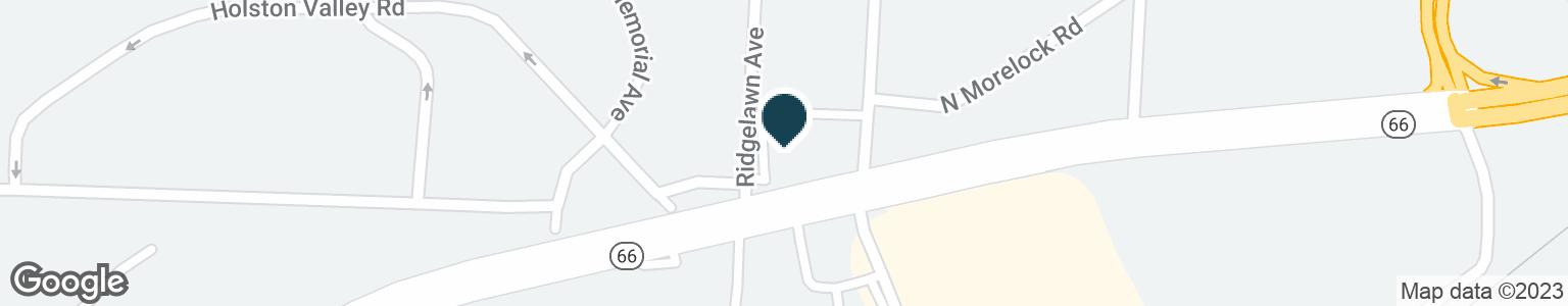 Google Map of2103 E ANDREW JOHNSON HWY