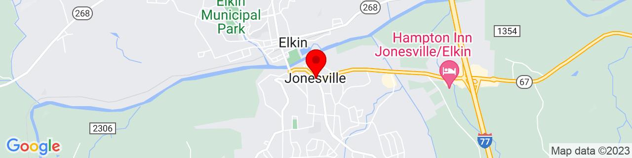Google Map of 36.23916666666667, -80.84444444444443