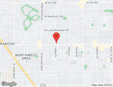 Map of 4280 W Craig Rd in North Las Vegas