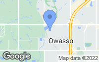 Map of Owasso, OK