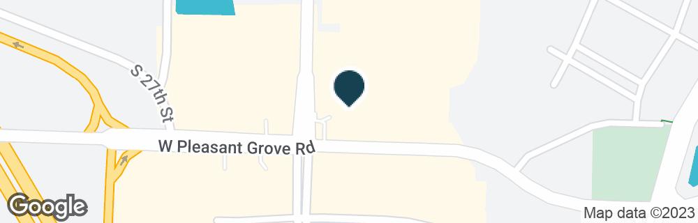 Google Map of2503 W PLEASANT GROVE RD