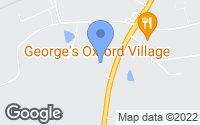 Map of Oxford, NC