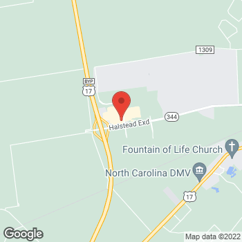 Map of Hair Cuttery at 103 Tanglewood Parkway, Elizabeth City, NC 27909