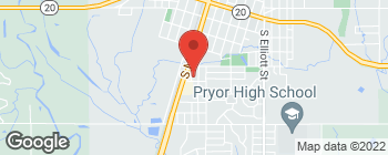 Map of 455 S Wood St in Pryor