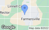 Map of Farmersville, CA