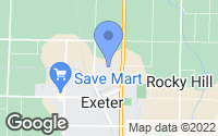 Map of Exeter, CA