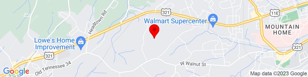 Google Map of 36.3056614, -82.4248652