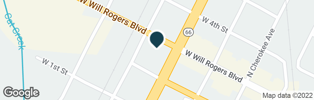 Google Map of601 W WILL ROGERS BLVD
