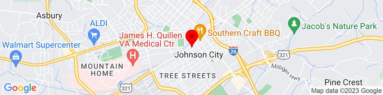 Google Map of 36.3134397, -82.3534727