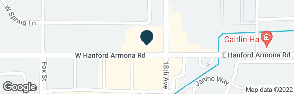 Google Map of12 W HANFORD ARMONA RD