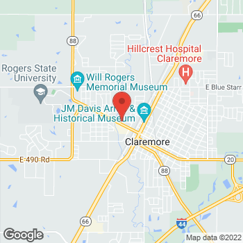 Map of Check `n Go Will Rogers Blvd. at 900 W Will Rogers Blvd., Claremore, OK 74017