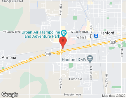 Map of 1635 Glendale Ave. in Hanford