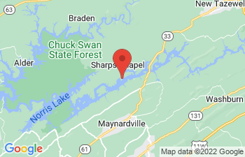 Map of Sharps Chapel