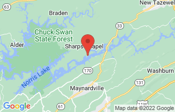 Map of Sharps Chapel
