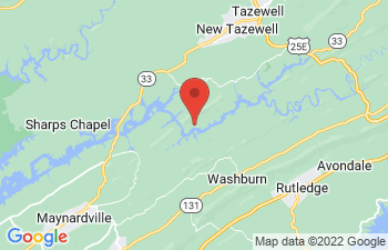 Map of New Tazewell