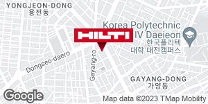 Get directions to 힐티코리아 ㈜ 대전영업소