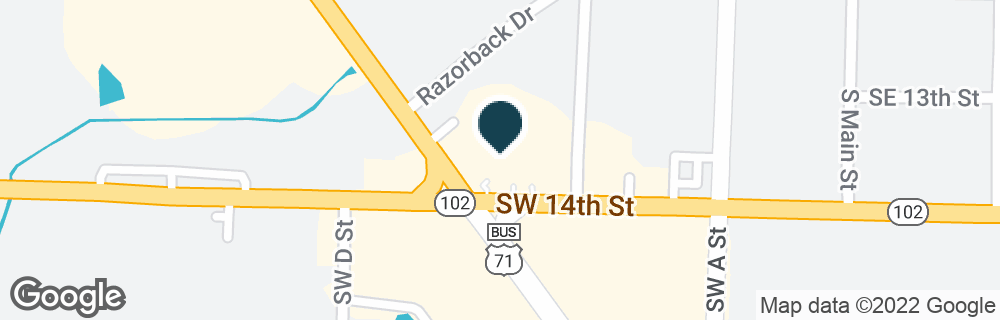 Google Map of1311 S WALTON BLVD