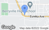 Map of Berryville, AR