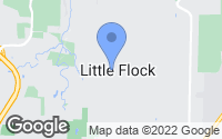 Map of Little Flock, AR