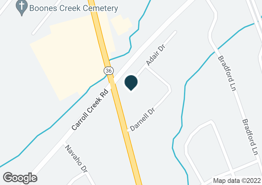 Google Map of4210 N ROAN ST