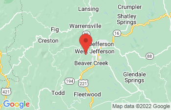 Map of West Jefferson