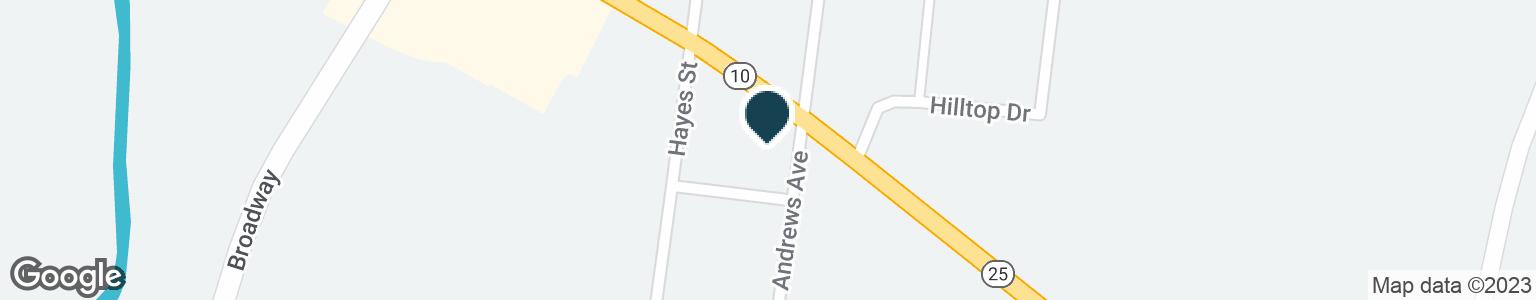 Google Map of210 MCMURRAY BOULEVARD