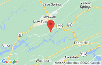 Map of Tazewell