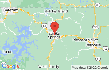 Map of Eureka Springs