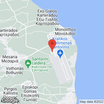 Map of Car Hire in Santorini Airport - InterRent at Santorini Airport, Santorini, Southern Aegean 84700