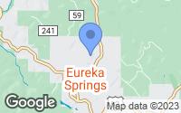 Map of Eureka Springs, AR