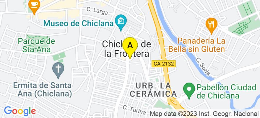 situacion en el mapa de . Direccion: Camino de Fuente Amarga,1, 11130 Chiclana de la Frontera. Cádiz
