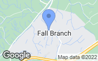 Map of Fall Branch, TN