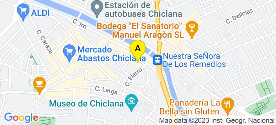 situacion en el mapa de . Direccion: Calle La Fuente núm. 1-2º, 11130 Chiclana de la Frontera. Cádiz