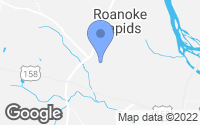 Map of Roanoke Rapids, NC
