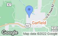 Map of Garfield, AR