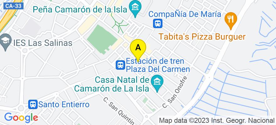 situacion en el mapa de . Direccion: C/ alsedo 8, 11100 San Fernando. Cádiz