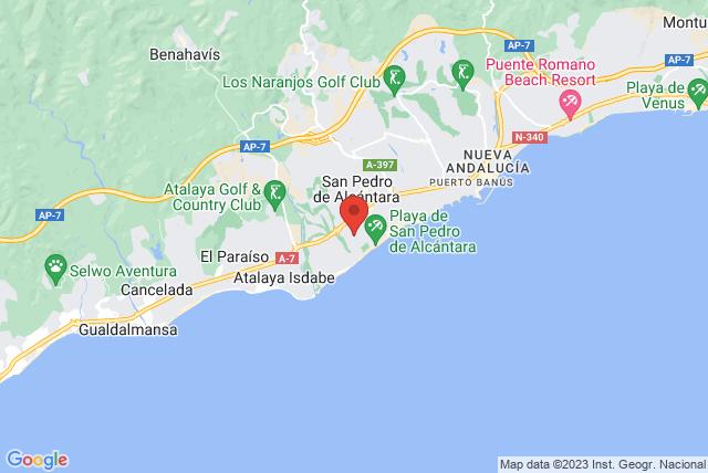 Darte Pilates Marbella Map