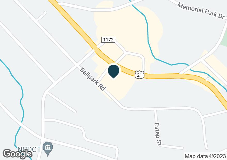 Google Map of454 S MAIN ST